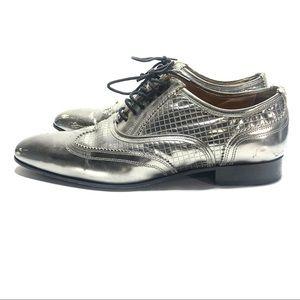 Neil berrett silver dress shoes 40